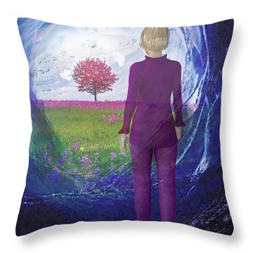 Tunnel To Eternal Life Throw Pillow