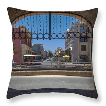 Tunnel To Fremantle Throw Pillow by Serene Maisey