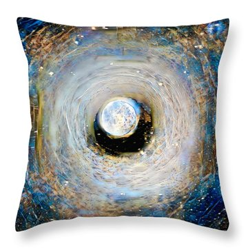 Tunnel To The Moon Throw Pillow