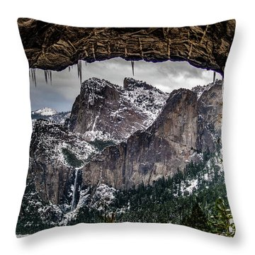 Throw Pillow featuring the photograph Tunnel View From The Tunnel by Bill Gallagher