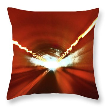 Throw Pillow featuring the photograph Tunnel Vision by Gray  Artus