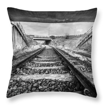 Throw Pillow featuring the photograph Tunnels And Tracks by Gary Gillette