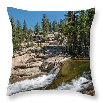 Tuolumne River II Throw Pillow