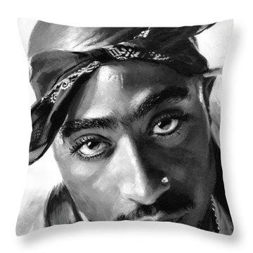 2pac Throw Pillows