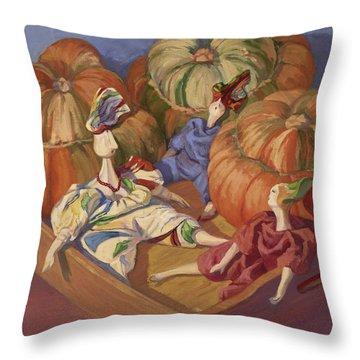 Turban Talk Throw Pillow by Jane Thorpe
