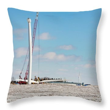 Turbine Construction Throw Pillow