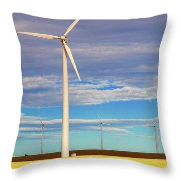 Turbine Formation Throw Pillow