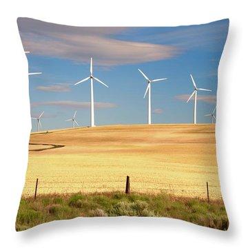 Turbine Line Throw Pillow