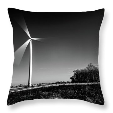 Throw Pillow featuring the photograph Turbine by Will Gudgeon