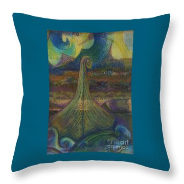 Turbulence Throw Pillow by Cynthia Lagoudakis