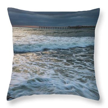 Throw Pillow featuring the photograph Turbulence by Dan McGeorge