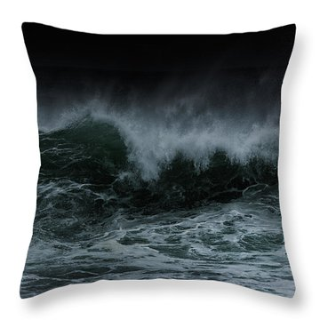 Turbulence Throw Pillow by Edgar Laureano