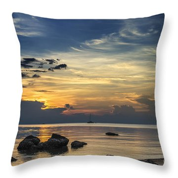 Turbulences Throw Pillow by Michelle Meenawong