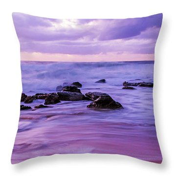 Turbulent Daybreak Seascape Throw Pillow