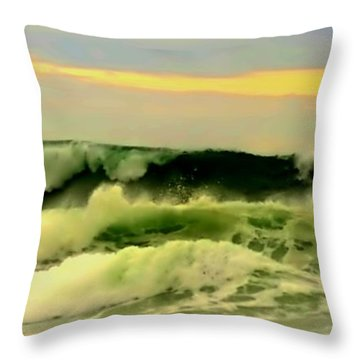 Turbulent Ocean Swell Throw Pillow by Blair Stuart