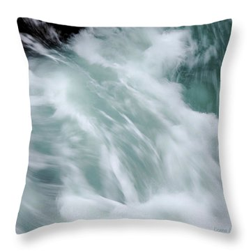 Turbulent Seas Throw Pillow
