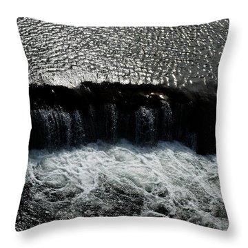 Turbulent Water Throw Pillow