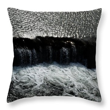 Turbulent Water Throw Pillow