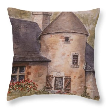 Throw Pillow featuring the painting Turenne  by Mary Ellen Mueller Legault