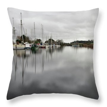 Turf Locks On Exeter Canal Throw Pillow