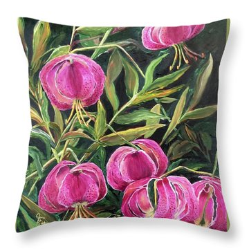 Turk Tigers In My Garden Throw Pillow