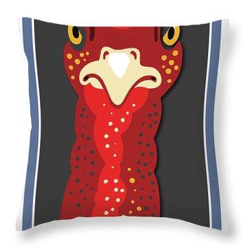Turkey Stare Throw Pillow