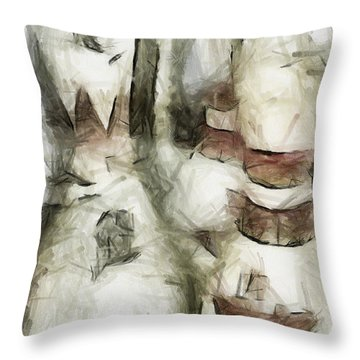 Turkey Out Throw Pillow by Trish Tritz