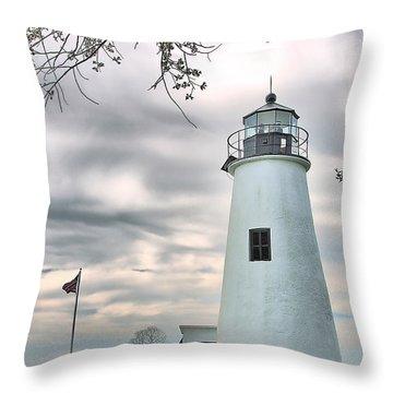 Turkey Point Lighthouse Throw Pillow