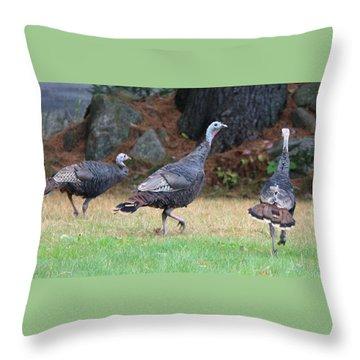 Turkey Trio Throw Pillow