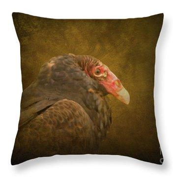 Turkey Vulture Throw Pillow