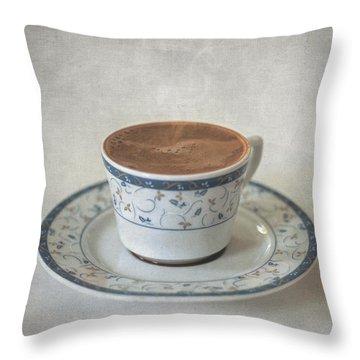 Turkish Coffee Throw Pillow by Taylan Apukovska