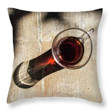Turkish Tea On A Wooden Table Throw Pillow