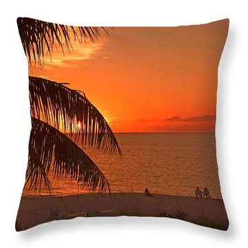 Turks And Caicos Sunset Throw Pillow by Stephen Anderson