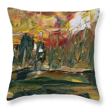 Turmoil Throw Pillow by Alan Mager