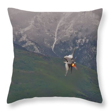 Turn And Burn Throw Pillow