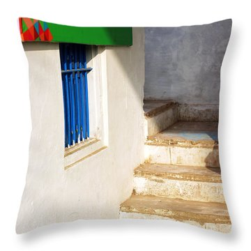 Turn Left Throw Pillow by Prakash Ghai