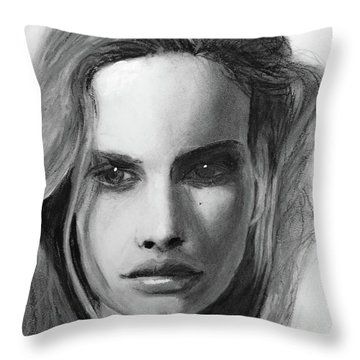 Throw Pillow featuring the drawing Turn Of A Friendly Card by Jarko Aka Lui Grande