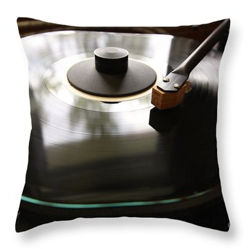 Turn Table Throw Pillow