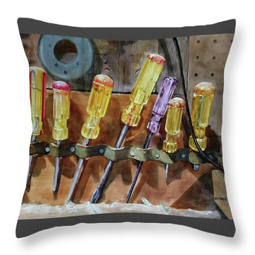 Throw Pillow featuring the painting Turn, Turn, Turn by Kris Parins