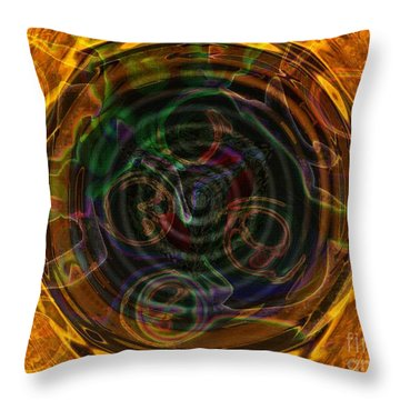 Turned To Gold Throw Pillow