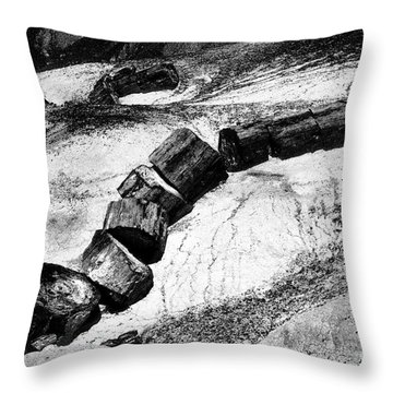 Throw Pillow featuring the photograph Turned To Stone by Paul W Faust - Impressions of Light