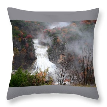 Turner Falls And Steam Throw Pillow