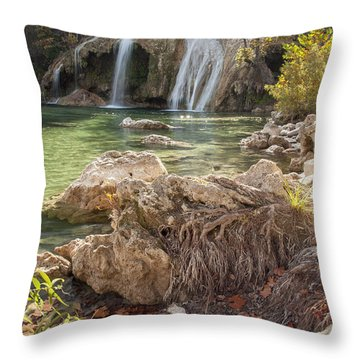 Turner Falls In The Arbuckles Throw Pillow