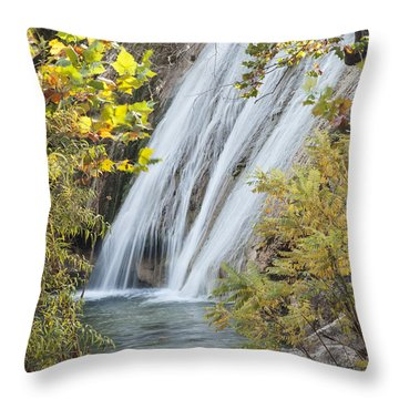 Turner Falls In The Morning Fall Throw Pillow