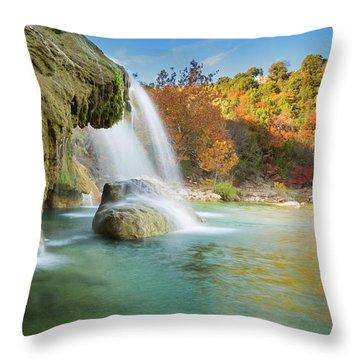 Turner Falls Xix Throw Pillow
