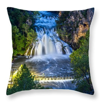 Turner Falls Oklahoma Throw Pillow