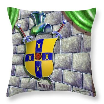 Turner Family Crest Throw Pillow