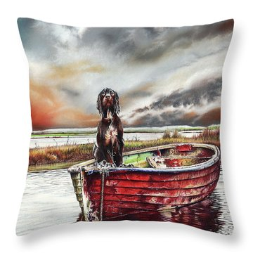 Turner's Dog Throw Pillow