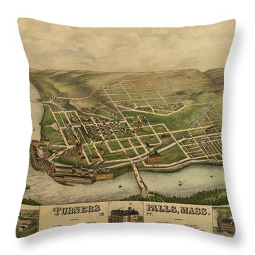 Turners Falls, Mass. Throw Pillow