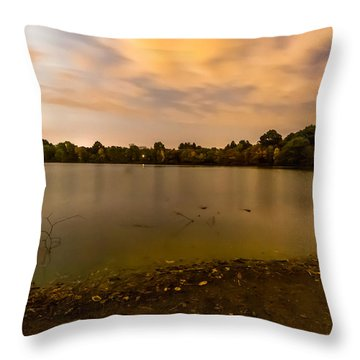 Turners Pond After Dark Throw Pillow